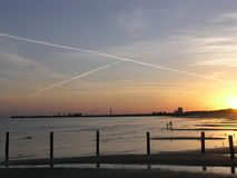 X Kennzeichen die Stelle, dank Keesler AFB bei Biloxi, Mitgliedstaat Stockbilder