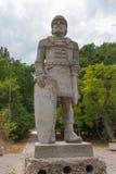 & x22; Khan Asparuh& x27; s warrior& x22; kamienna rzeźba, Varna, Bułgaria Zdjęcie Royalty Free