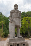 & x22; Khan Asparuh & x27; warrior& x22 di s; scultura di pietra, Varna, Bulgaria Fotografia Stock Libera da Diritti