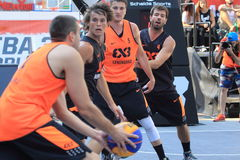 3x3 koszykówka - Światowa wycieczka turysyczna w Praga Obraz Stock