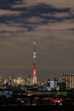 ' Kylo Ren'东京Skytree点灯  免版税图库摄影