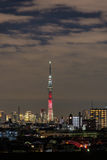 Kylo Ren light-up of Tokyo Skytree Royalty Free Stock Photography