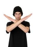 X língua de sinal Imagem de Stock Royalty Free