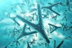 X-$l*y-χρωμοσώματα στο υπόβαθρο, την ιατρική θεραπεία γονιδίων συμβόλων ή την έρευνα γενετικής μικροβιολογίας με με την επίδραση  διανυσματική απεικόνιση