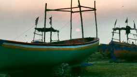 & x22; Lights& x22; Eind van de Dag & x28; Sunset& x29; Royalty-vrije Stock Foto