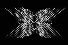 X-Linien abstrakter Hintergrund stock abbildung