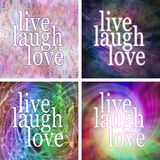 4 x Live laugh love square coasters Royalty Free Stock Photos