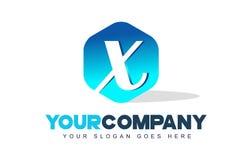 X logotipo de la letra Diseño moderno de la forma del hexágono libre illustration