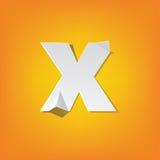 X lowercase letter fold english alphabet New design Royalty Free Stock Photo