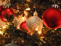 X luci di mas nell'albero fotografia stock libera da diritti