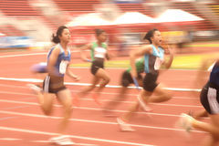 4x100m.Relay在泰国打开运动冠军2013年。 免版税图库摄影