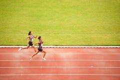4x400m.Relay em Tailândia abrem o campeonato atlético 2013. Imagens de Stock Royalty Free