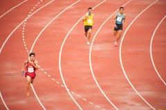 4x400m.Relay em Tailândia abrem o campeonato atlético 2013. Fotos de Stock Royalty Free
