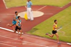 4x400m.Relay em Tailândia abrem o campeonato atlético 2013. Fotos de Stock