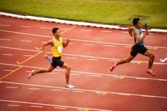 4x400m.Relay en Thaïlande ouvrent le championnat sportif 2013. Images stock