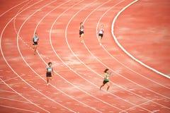 4x400m.Relay in Tailandia aprono il campionato atletico 2013. Immagini Stock