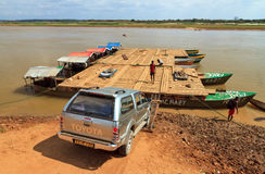 4x4 Malagasy ferry Stock Photo