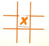 X marcas o ponto Imagens de Stock