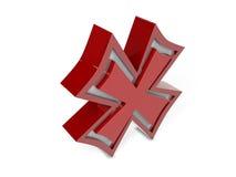 X Markierungs-Stellung Lizenzfreie Abbildung
