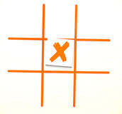 X marks l'endroit Images stock