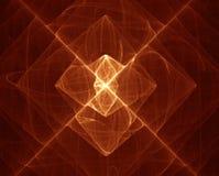 X marks the spot. Reddish X abstract vector illustration