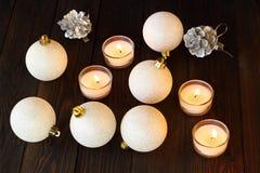 X-mas шарика рождества и счастливый Новый Год Стоковые Изображения RF