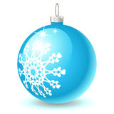 X-mas ball icon. A blue x-mas ball icon Stock Photography