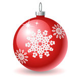 X-mas ball icon. A red x-mas ball icon Royalty Free Stock Photography