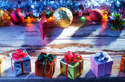 X-mas boxes Royalty Free Stock Image