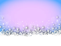 X-Mas Card - Snowy - Blue - Pink Stock Images