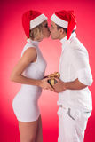 X-mas couple Royalty Free Stock Photography