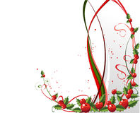 X-mas design with holly. Berries Royalty Free Stock Photo