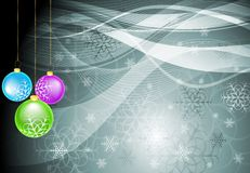 X-mas design with snowflakes and balls. Abstract background with Christmas tree balls. Vector eps 10 Vector Illustration