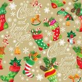 X-mas e fundo do ano novo com estoque do Natal ilustração royalty free
