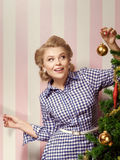 X-mas girl Stock Photo