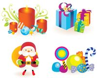 X'mas goods icons Stock Image