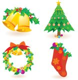 X'mas goods icons Royalty Free Stock Photography
