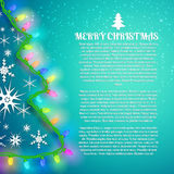 X-mas Greeting Card. Merry Christmas Royalty Free Stock Image