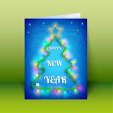 X-mas Greeting Card. Merry Christmas Stock Photo