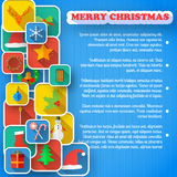 X-mas Greeting Card. Merry Christmas Royalty Free Stock Photography
