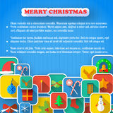 X-mas Greeting Card. Merry Christmas Stock Images
