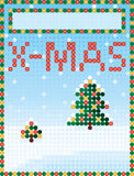 X-MAS greeting card/poster Stock Photos