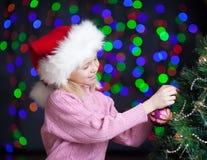 X-mas happy kid over bright festive background Royalty Free Stock Photography