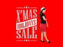 X'mas Holiday Sale Ad Illustration Stock Images