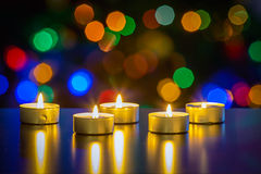 X-mas lights Royalty Free Stock Images