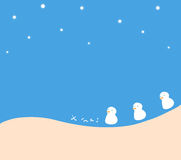 X-mas & merry christmas snowman. X-mas snowman background design stock illustration