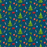 X-mas and New Year background. Seamless pattern Royalty Free Stock Image