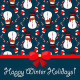 X-mas and New Year background. Seamless pattern Stock Images