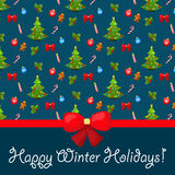 X-mas and New Year background. Seamless pattern Stock Image