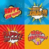 X-mas and new year Royalty Free Stock Images